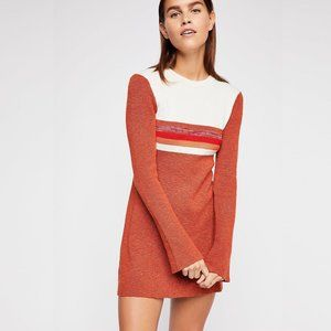 """Free People """"ColorBlock Sweater Dress"""" (Red)"""